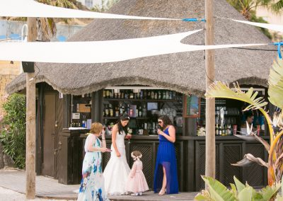Bride and Flowergirl at Salitos