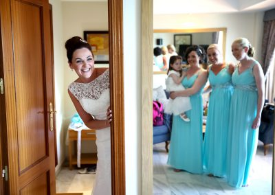 Bride in Bridal Suite