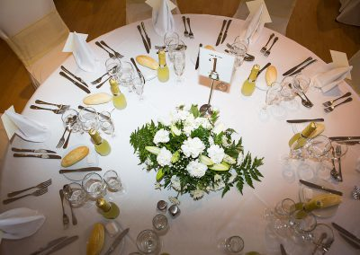 Sunset Beach Wedding table