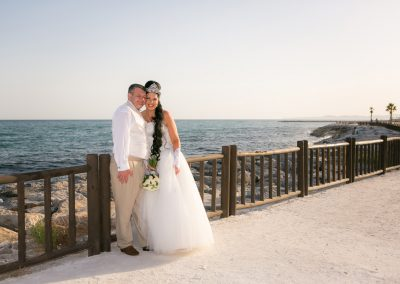 Wedding Couple by sea