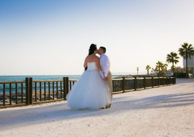 Wedding Dress by sea