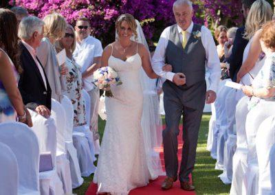 Brides-arrival