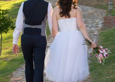 Bride and groom La Cala Gardens