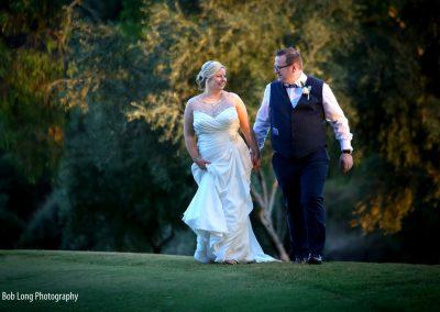 Bride and groom at La Cala Resort