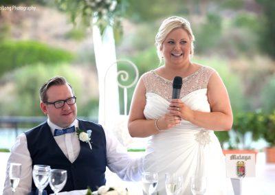 Bride speech at La Cala