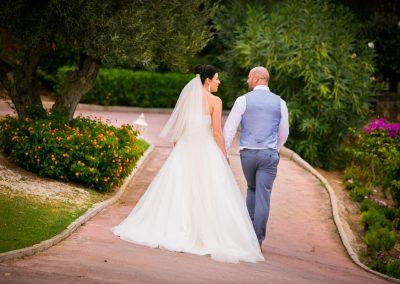 Departure of Bride and Groom
