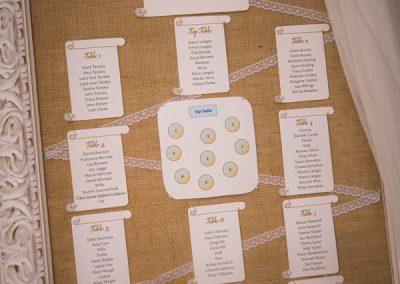 Sample La Cala Seating Plan