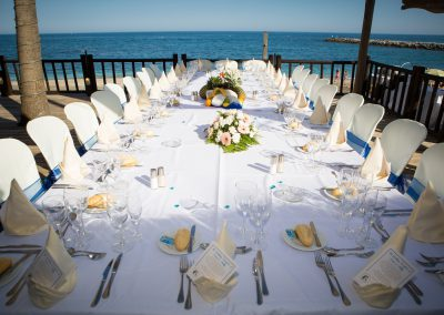 Imperial Table Set up at Luna Beach Club