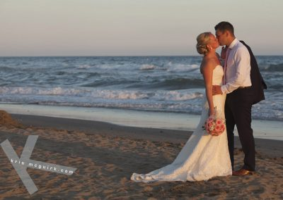 Just Married on Beach