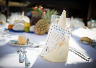 Personalised Printed Wedding Menus