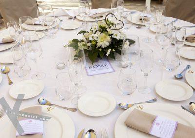 Sample Wedding Table Setting
