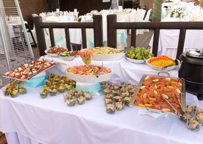 Starter Buffet at Luna Beach Wedding
