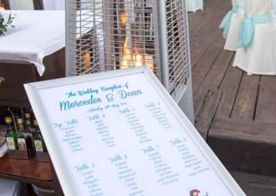Table Plan at Luna Beach