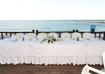 Top Table with back to Sea at Luna Beach