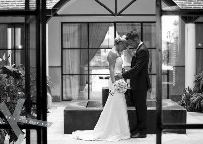 Wedding Couple at Hotel