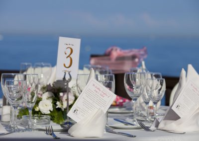 Wedding Table Set Up Luna Beach