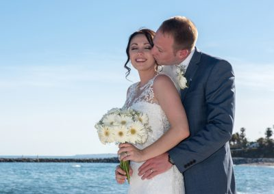 Bride and Groom by the sea in benalmadena