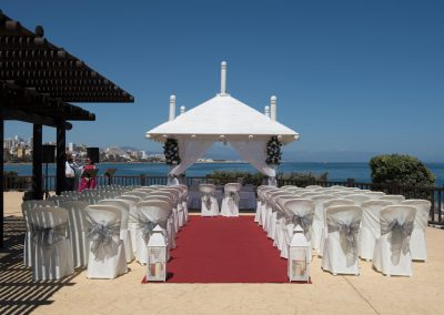 Ceremony set up at Sunset beach Benalmadena