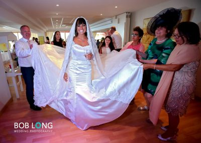 Bride and her magnificent Wedding dress