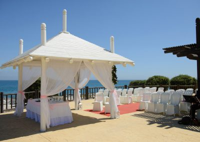 Ceremony area at Sunset Beach Club Hotel