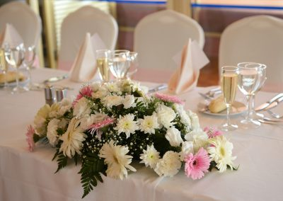 Top table flower centrepiece