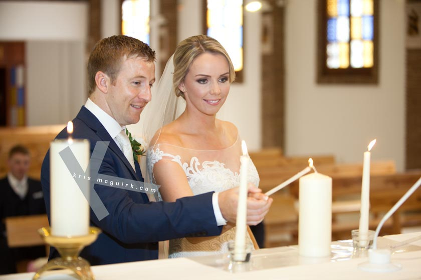 Lighting of marriage candle