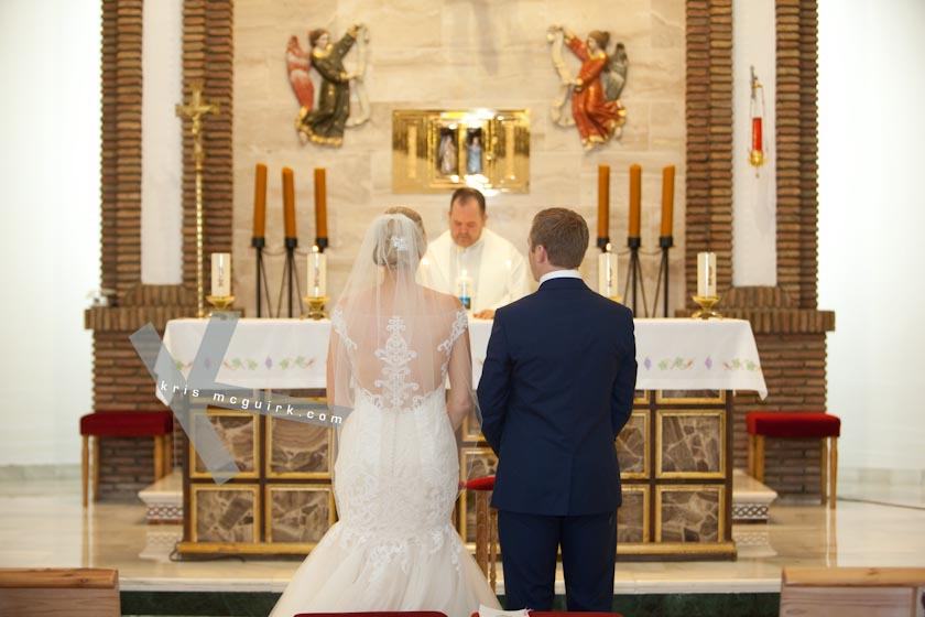 Vows at Church Ceremony
