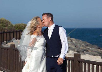 Bride and groom married in Spain