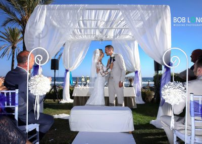 Wedding ceremony at Estrella del Mar