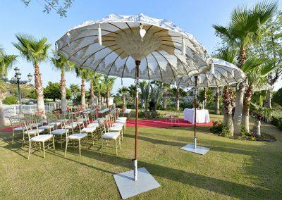 Ceremony in gardens