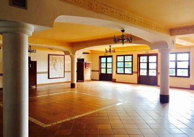 Indoor ballroom smaller