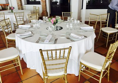 Sample Wedding Table Set up