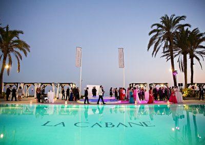 Wedding guests at La Cabane