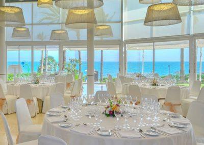 Sea views from Wedding reception room