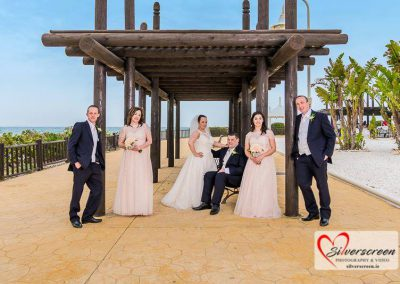 Bridal party on the promenade
