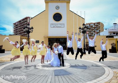 Bridal-party-outside-of-Church