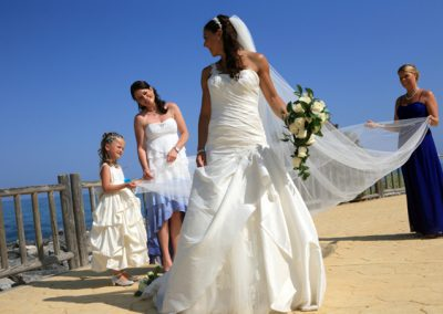 Bride-and-girls