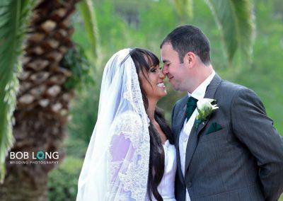 Bride and groom at Paloma Park