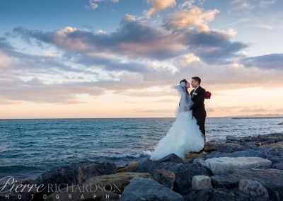Sunset-Bride-and-Groom
