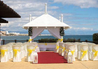 New ceremony pagoda at Sunset Beach