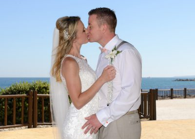 Just Married at Sunset beach