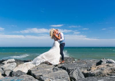 Stunning seafront wedding photography