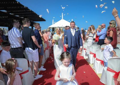 Married in sunset beach