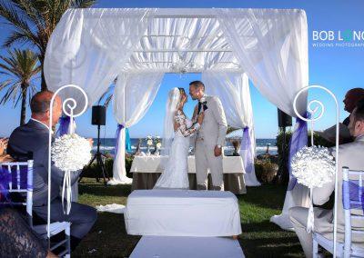 Wedding ceremony at Estrella del Mar