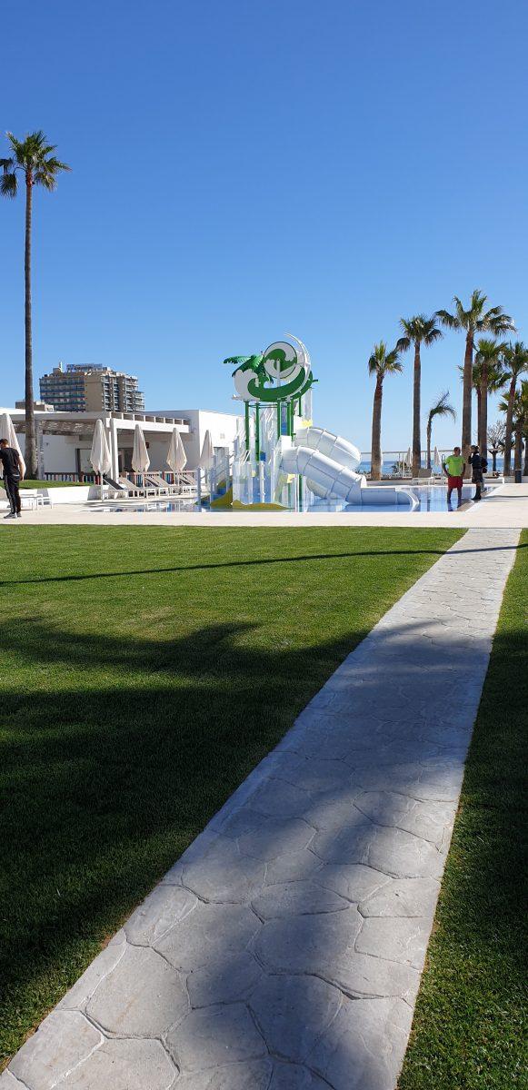 Walkway to the ceremony area