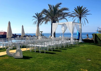 Ceremony on grass area