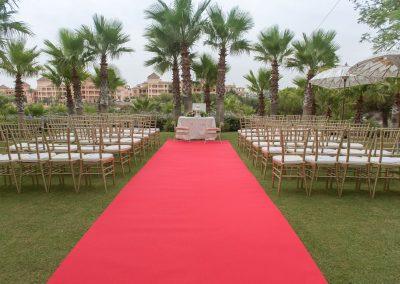 Wedding ceremony set up Benalmadena