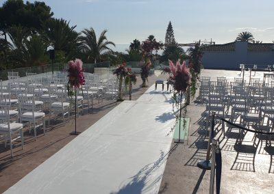 Ceremony set up at Los Monteros