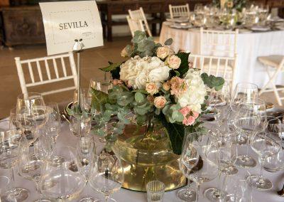 Wedding centrepiece gran melia don pepe