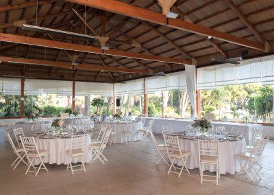 Wedding set up all white at Gran Melia Don Pepe